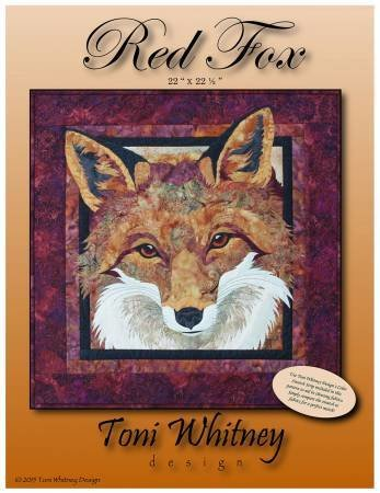 Red Fox Applique Pattern by Toni Whitney