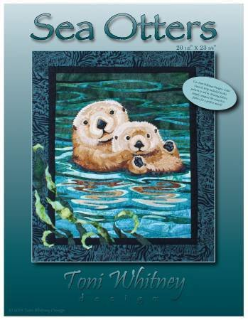Sea Otter Applique Pattern by Toni Whitney