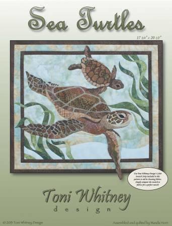 Sea Turtles Applique Pattern by Toni Whitney