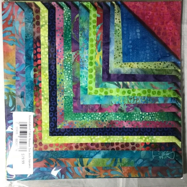 Roundabout Table Runner Ten Inch Squares Kit - Set of 16