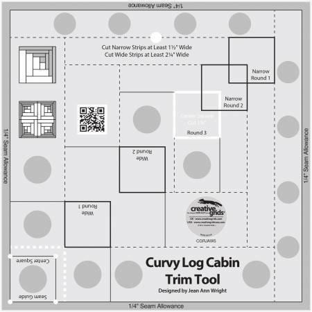 Creative Grids Curvy Log Cabin 8 inch