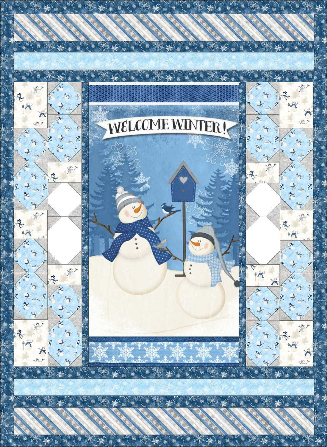 Welcome Winter Fabric Quilt Kit