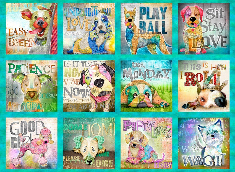 Multi Good Dogs Panel Digitally Printed