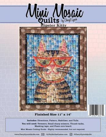 Hipster Kitty Mini Mosaic Pattern