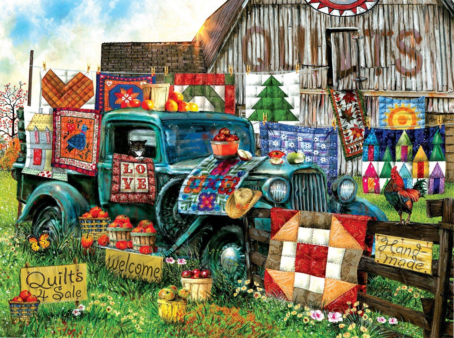 PUZZLE QUILTS FOR SALE 1000PC