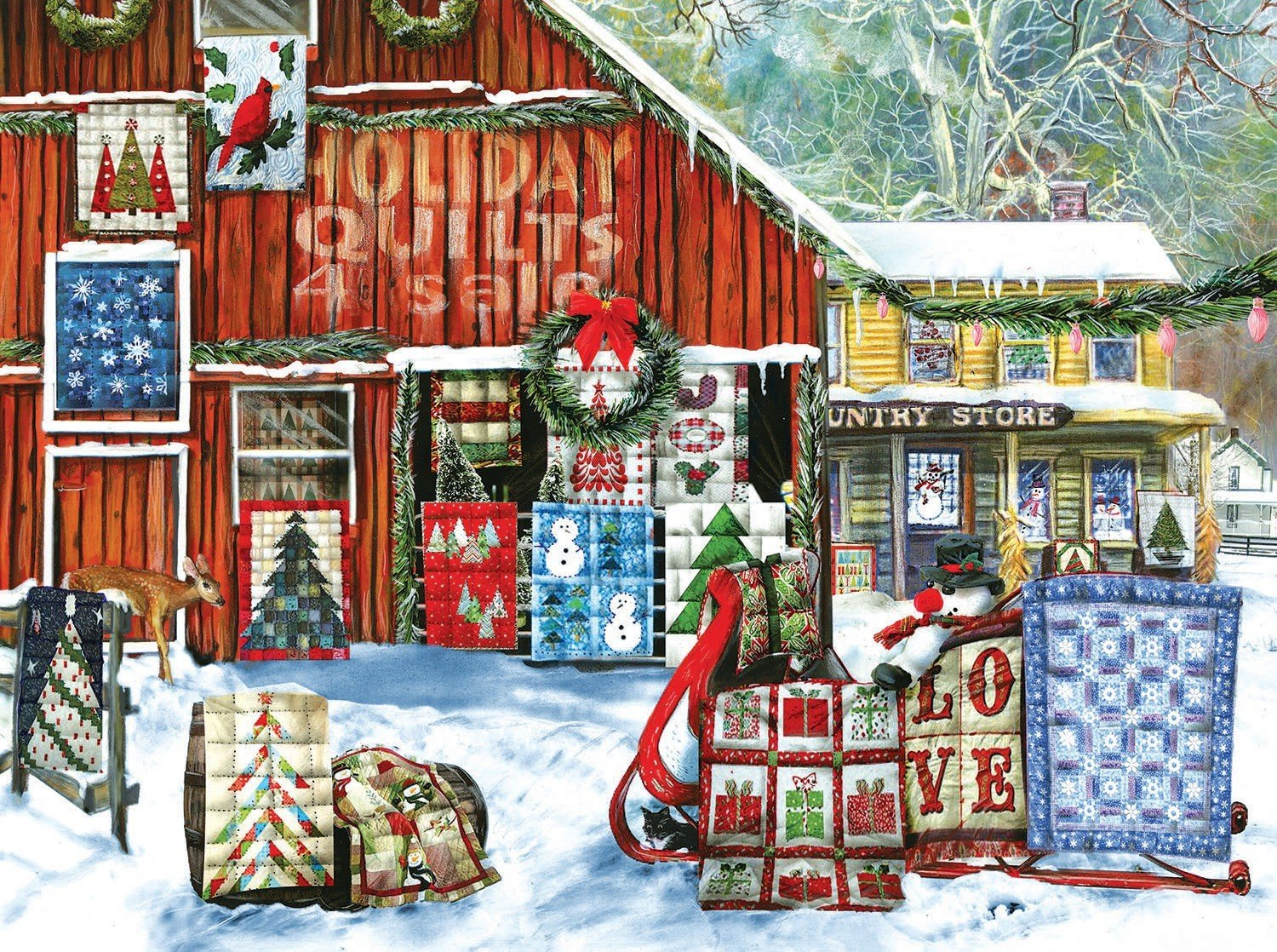 PUZZLE HOLIDAY QUILTS 1000PC