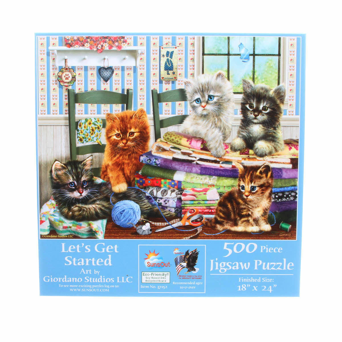 PUZZLE LETS GET STARTED 500PC