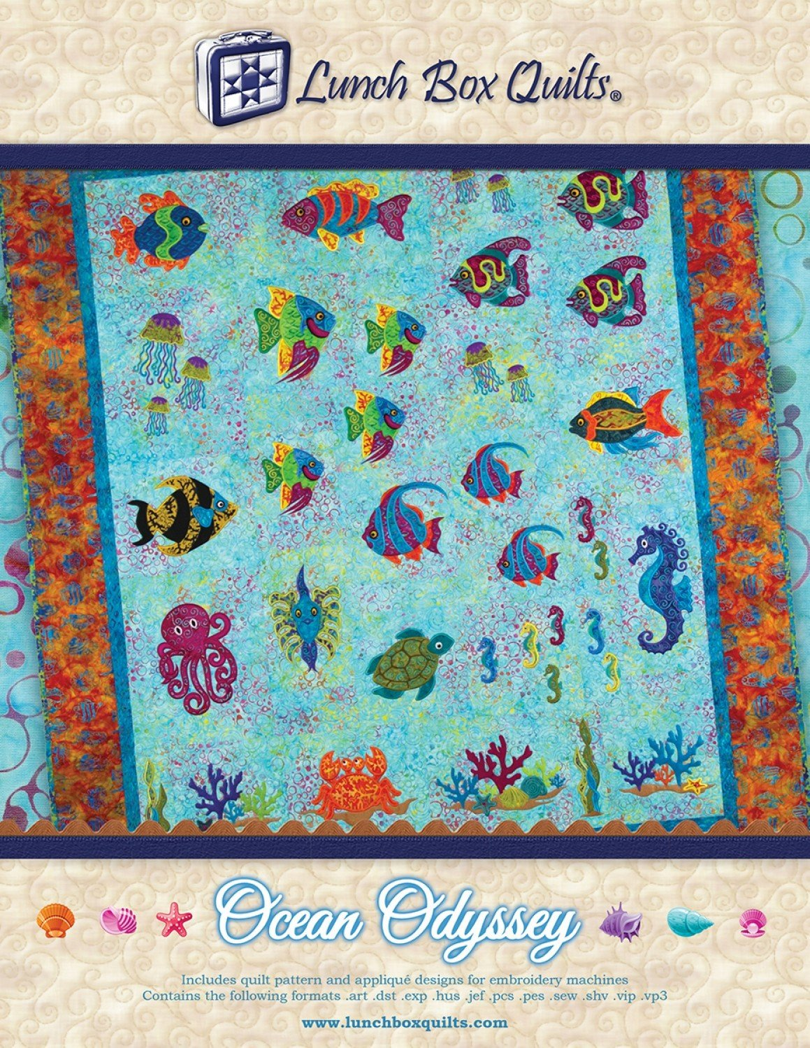 CD Ocean Odyssey Embroidery Applique Quilt Pattern