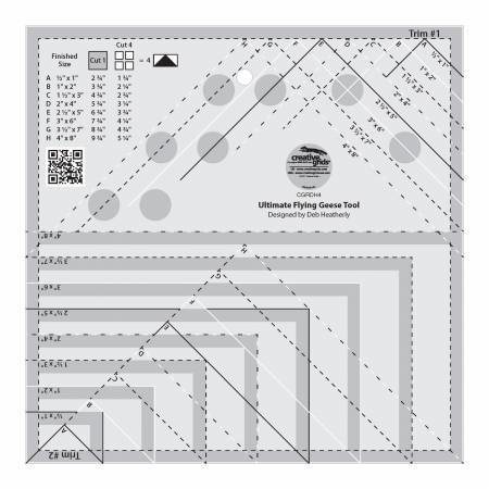 TEMPLATE CREATIVE GRIDS ULTIMATE FLYING GEESE RULER