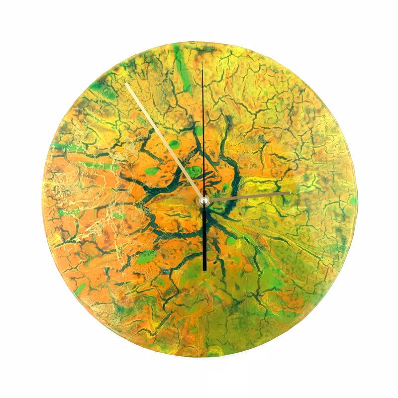 """Часы настенные """"Yellow Mars"""" 00002"""