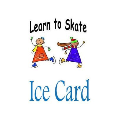 Learn to Skate Ice Card