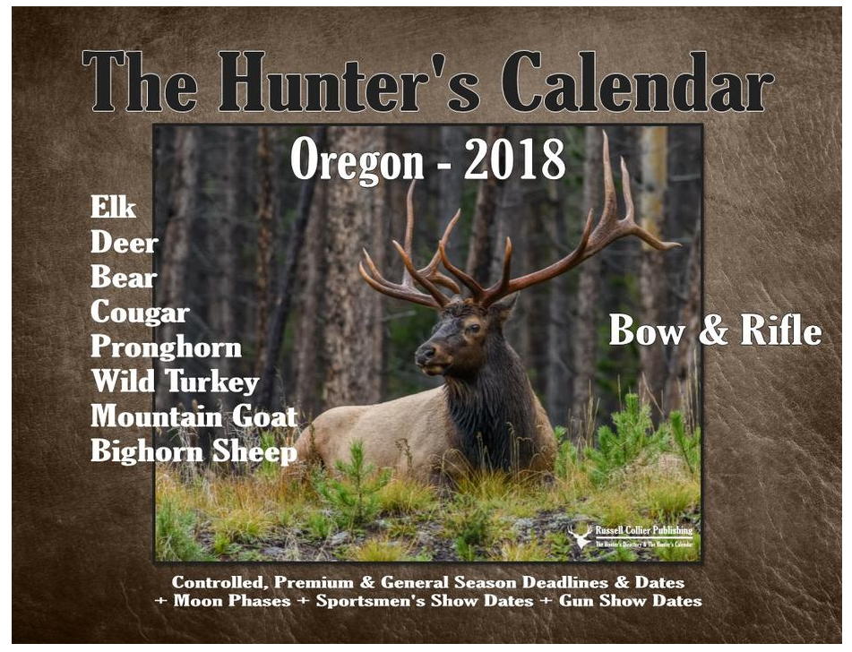 2018 Hunters Calendar 00107