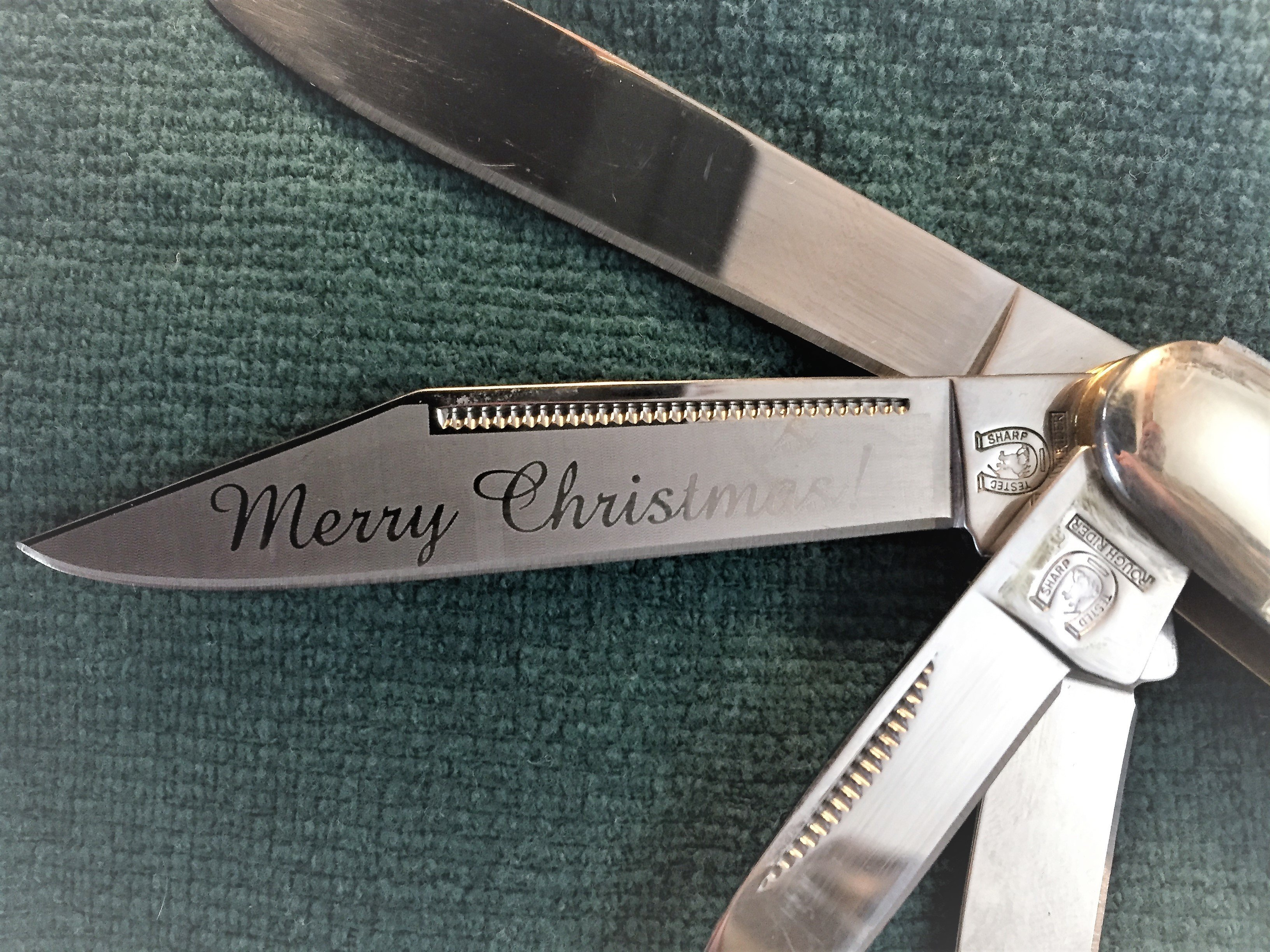 Rough Rider Engraved Christmas knife