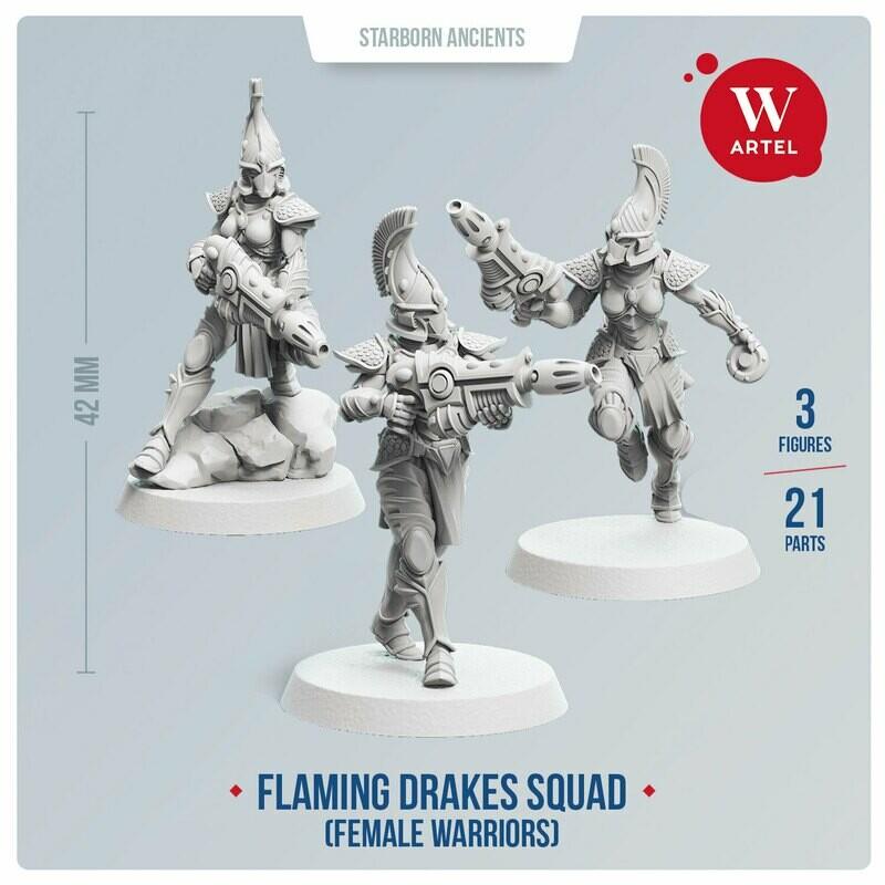 Flaming Drakes Squad (female warriors)