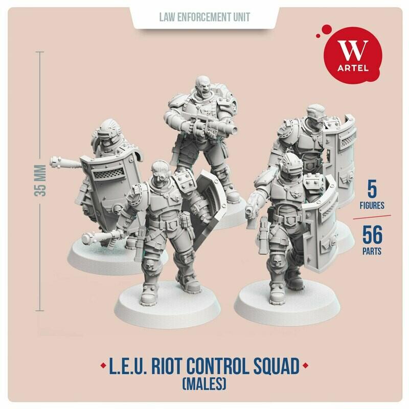 L.E.U. - Riot Control Squad (male enforcers)