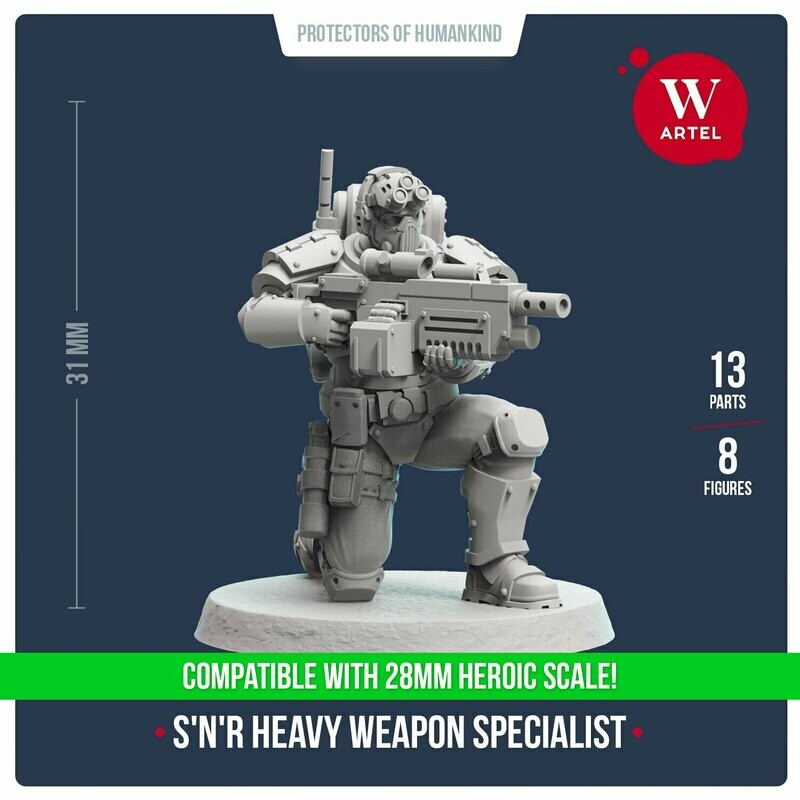 Scout`n`Recon Heavy Weapon Specialist 28mm scale
