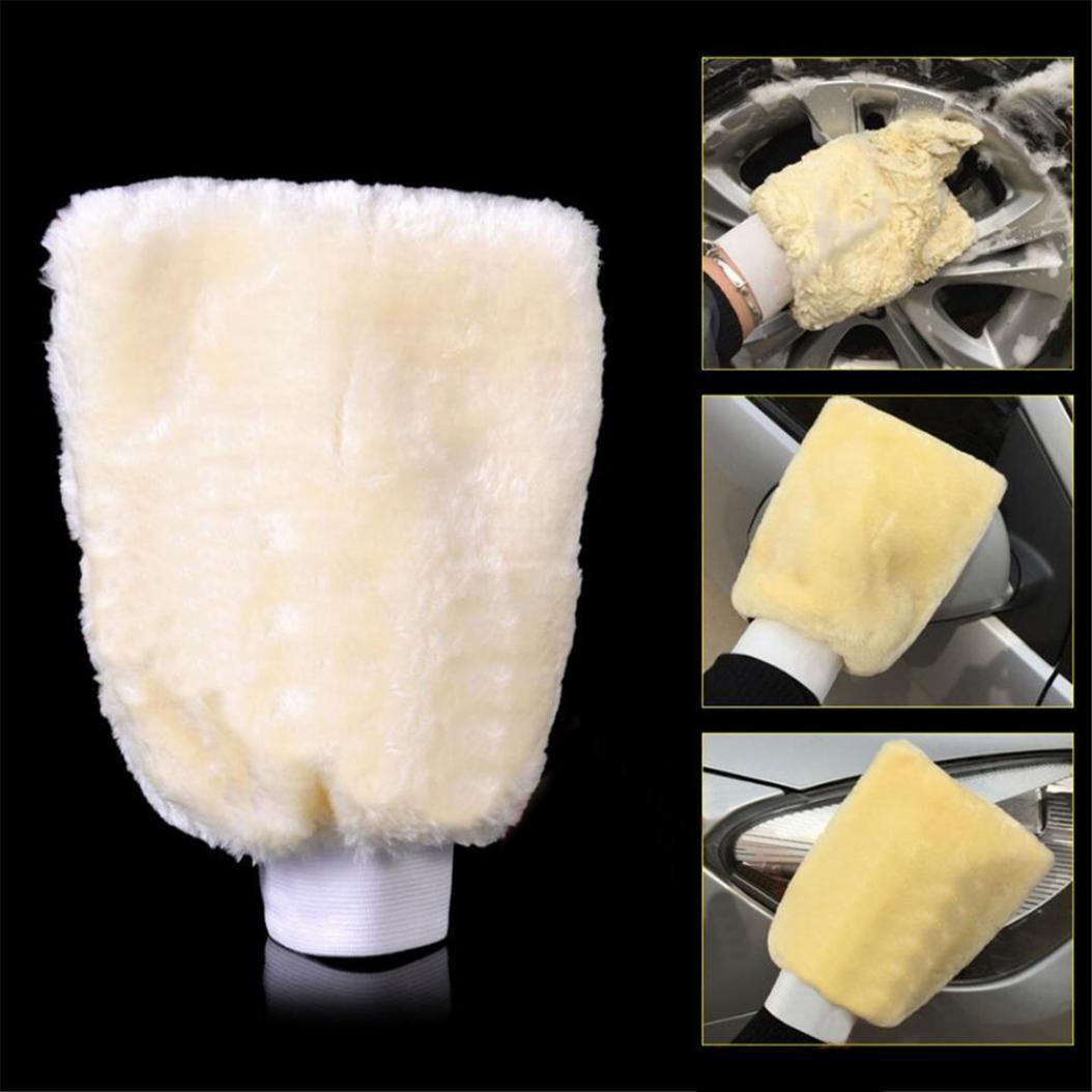 Soft Artificial Wool Mitten Car Polishing Glove Washer Washing Cleaning Tool