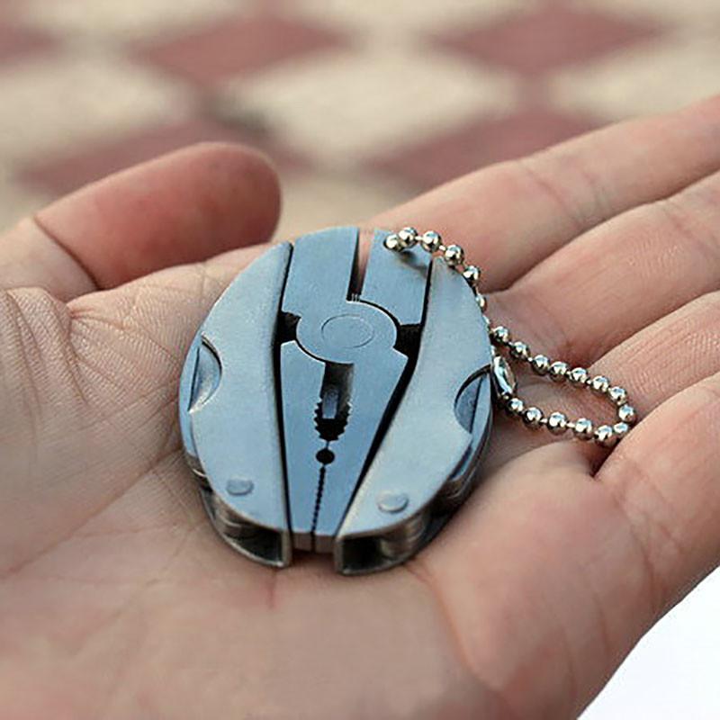 Tragbarer Multifunktions-Faltentaschenwerkzeug-Zangen-Messer Keychain Schraubendreher