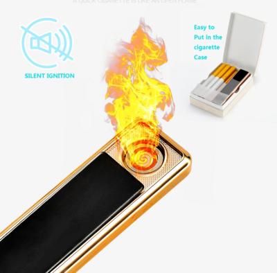 USB Slider Elektronisches tragbares Feuerzeug Flammenlos Lendproof Zigarettenanzünder Wiederaufladbar Fancy Smoking Lighter Gadgets für Männer
