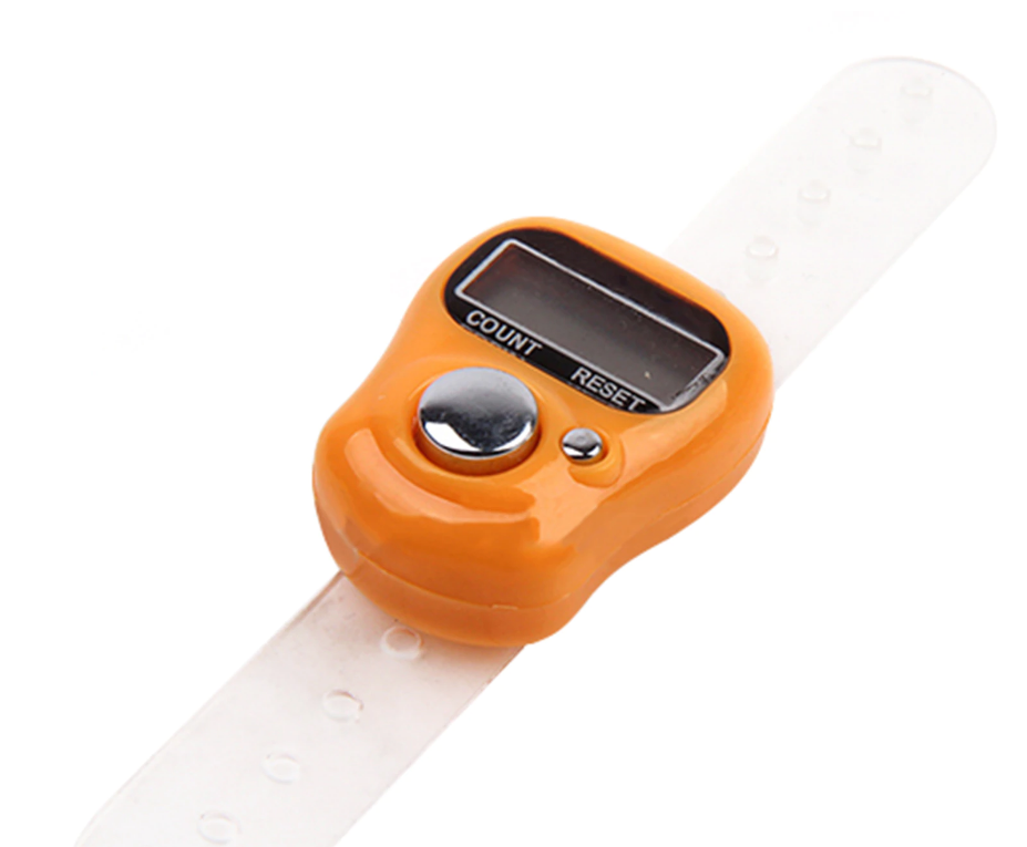 2stuck Digital LCD Digital Zahlen Golf Fingerring Handstricken Zeilenzähler Recorder Nächster Schrittzähler Zufällige Farbe Drop Shipping