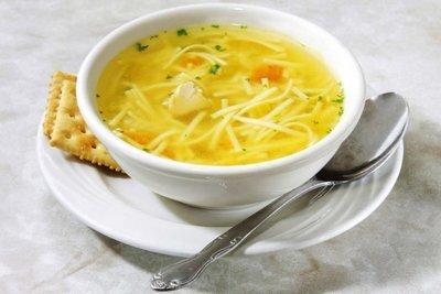 Суп похмельный детский  с курицей и домашней лапшой