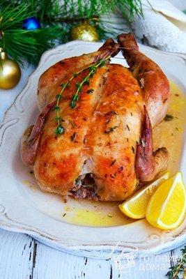Курица замаринованная с кус кусом и лимонами