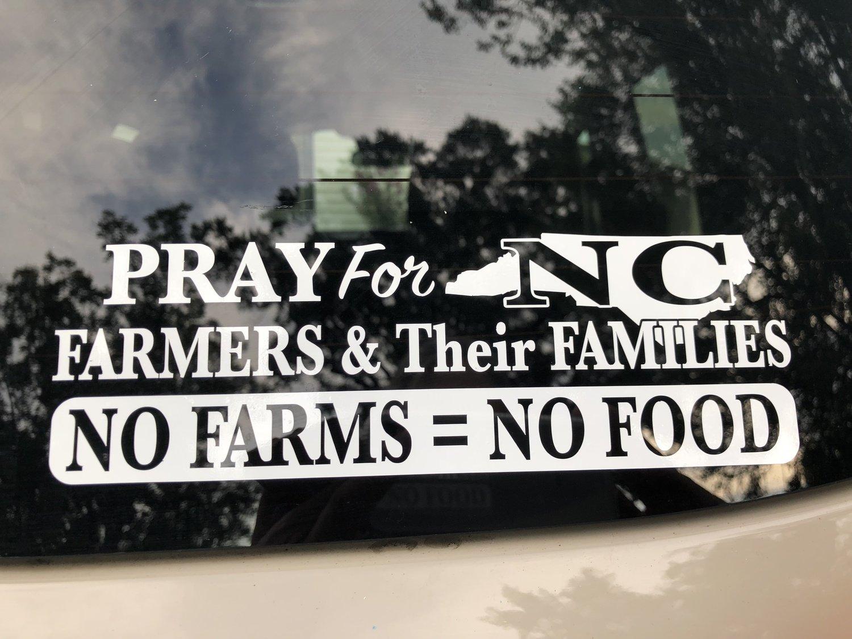 PRAY for NC FARMERS - WINDOW DECAL