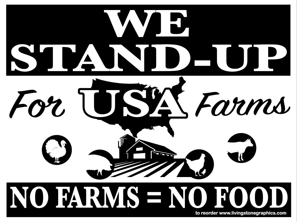 STAND UP for USA -100 signs - $6.95 EACH  FREE SHIPPING!