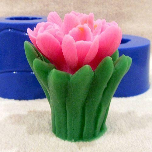 Силиконовая форма для мыла тюльпаны
