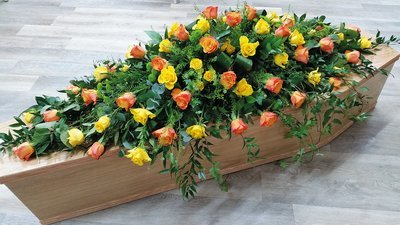 Yellow & Orange Coffin Spray