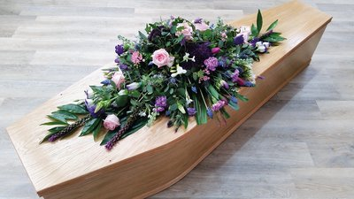 Pink & Purple Coffin Spray