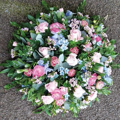 Pink And Blue Posy