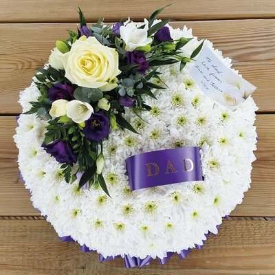 White & Purple Based Posy