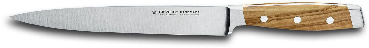 FELIX First Class Wood Fleisch- und Tranchiermesser, 21cm