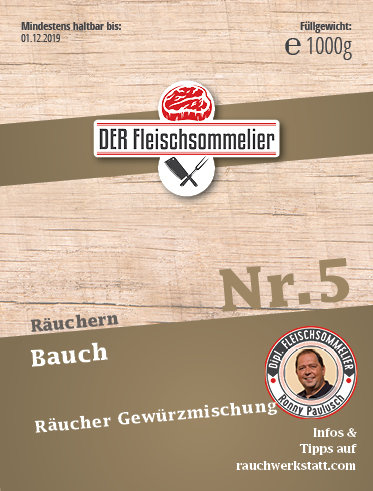 "Räucher- Gewürzmischung Nr. 5 ""Bauch"""