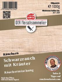 Räucher- Gewürzmischung #12 Schwarzrauch mit Kräuter