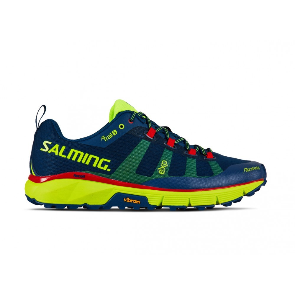 Salming Trail 5 Poseidon Blue/Safety Yellow 00024