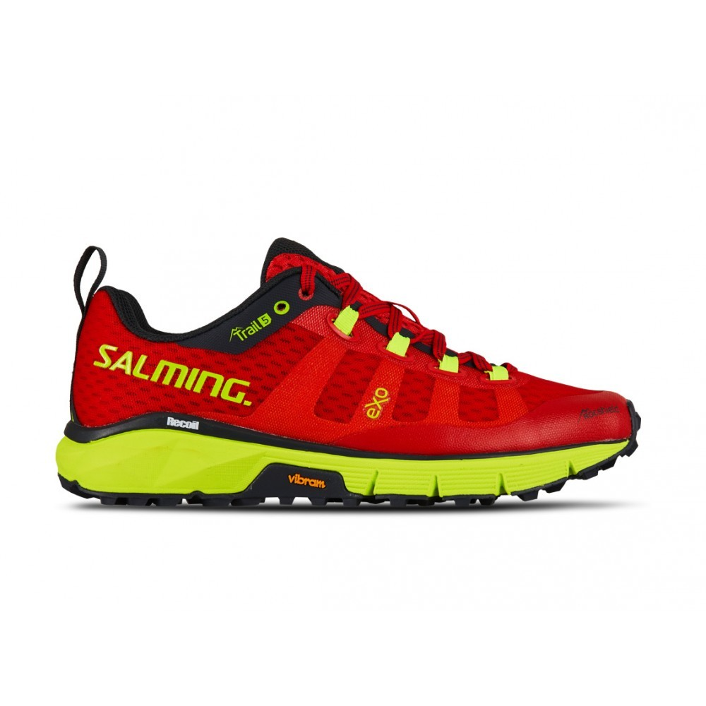 Salming Trail 5 Poppy Red/Safety Yellow 00014