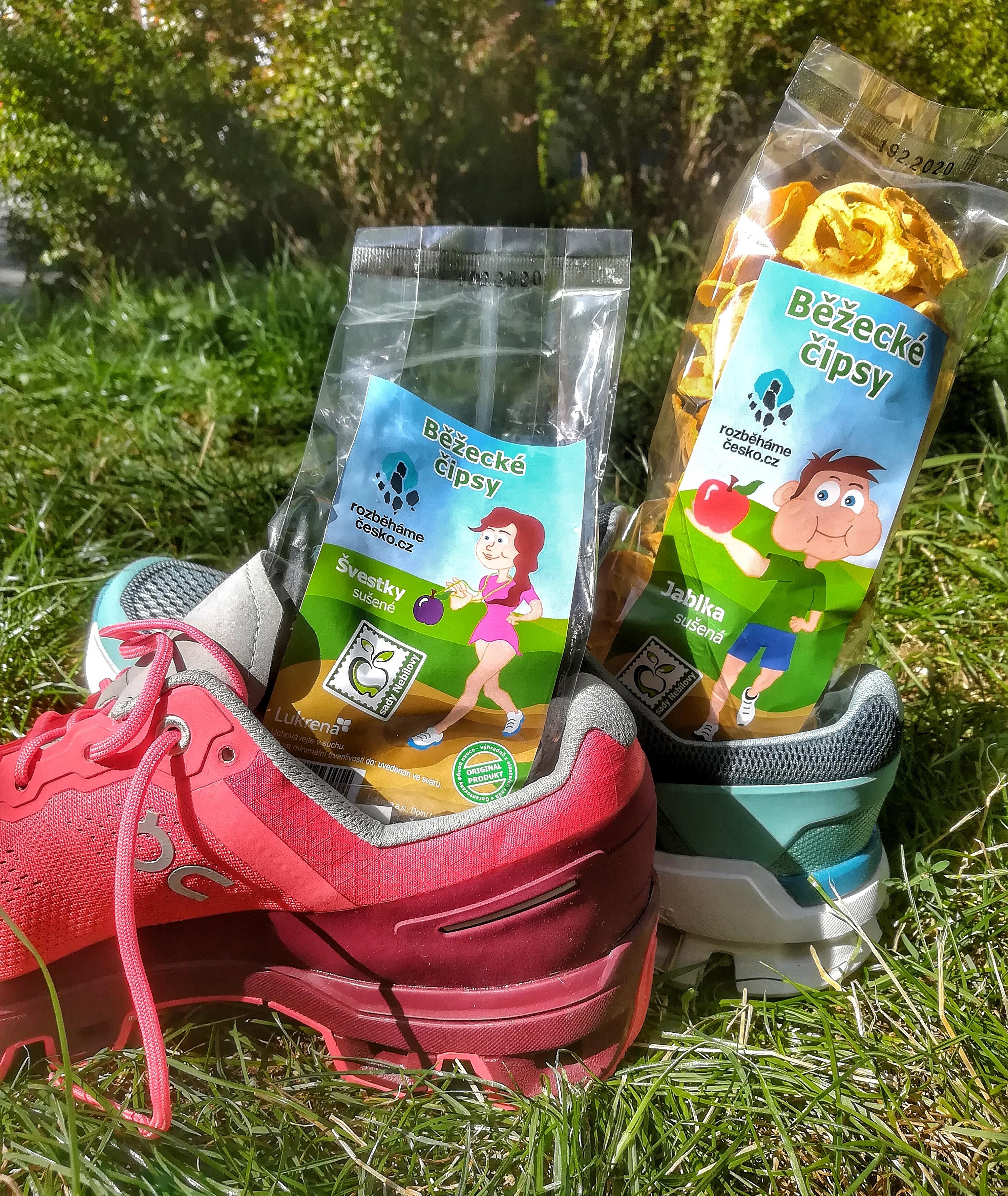 Běžecké chipsy - jablíčka, švestky 00170
