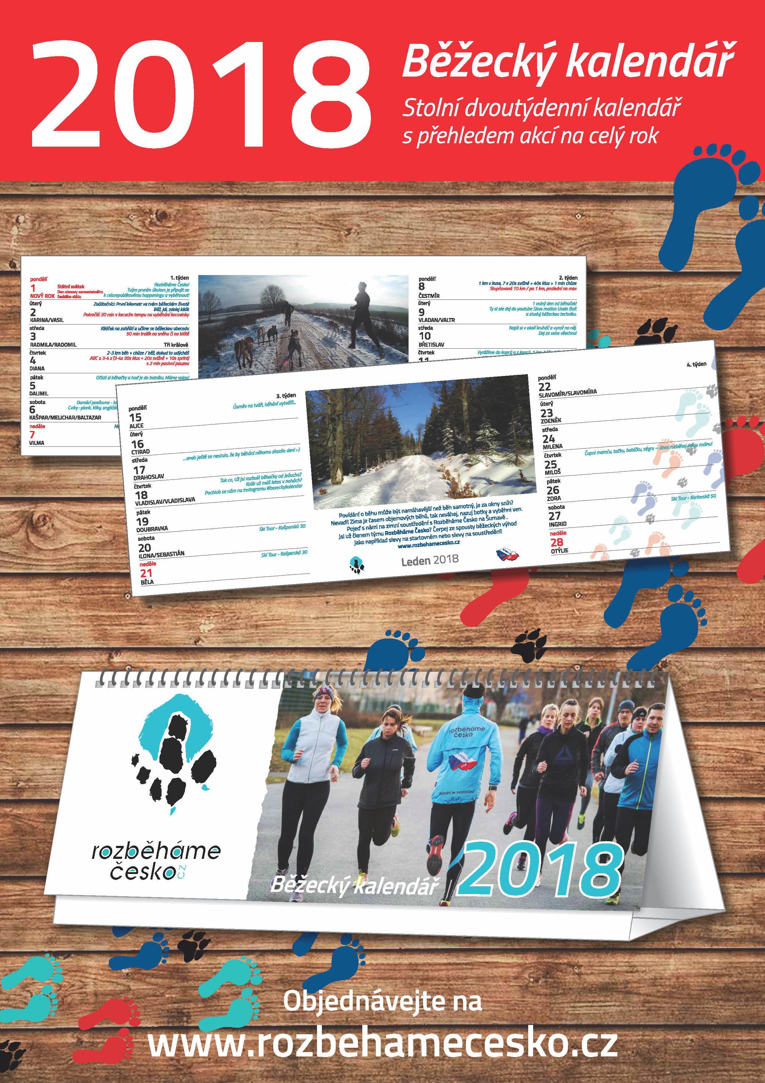 Běžecký motivační kalendář 2018 00002