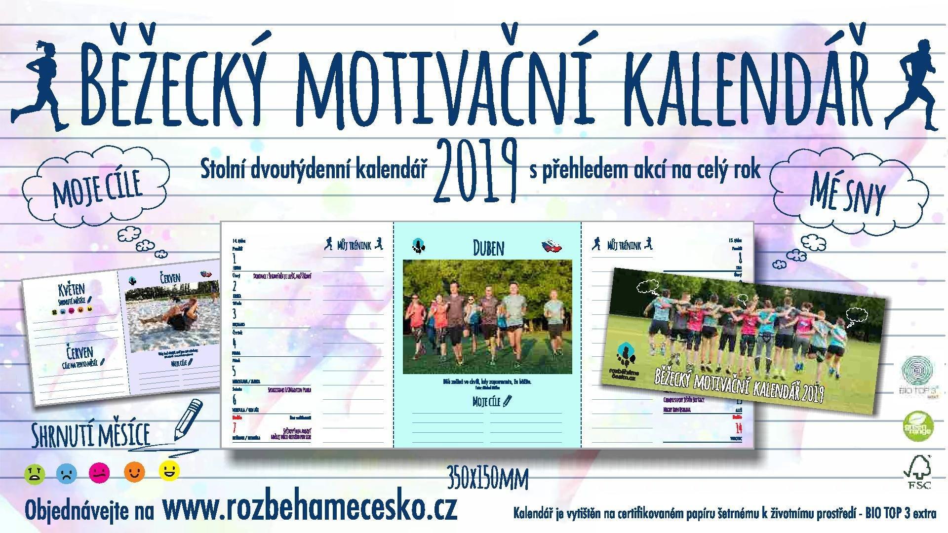 Běžecký motivační kalendář 2019 00002