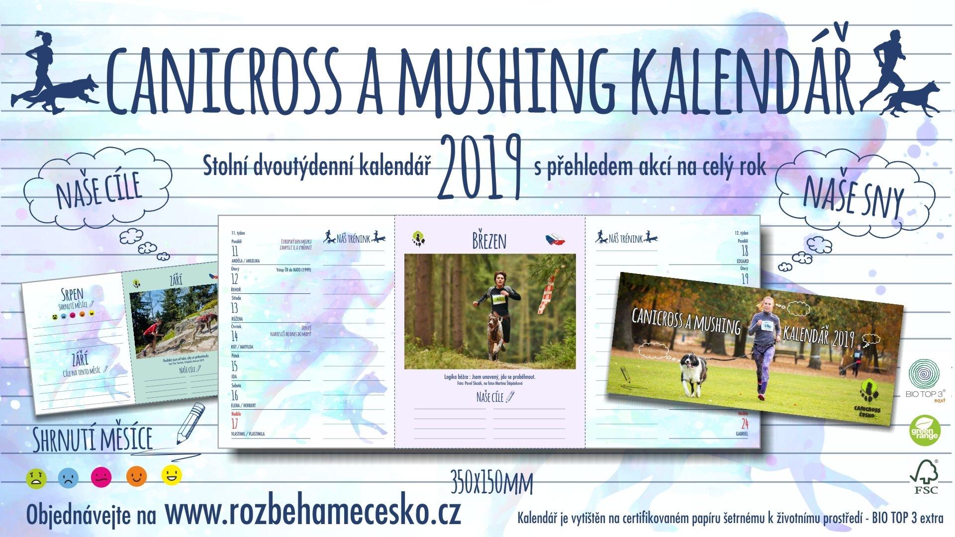 Canicross a Mushing kalendář 2019 pro dobrou věc! 00126