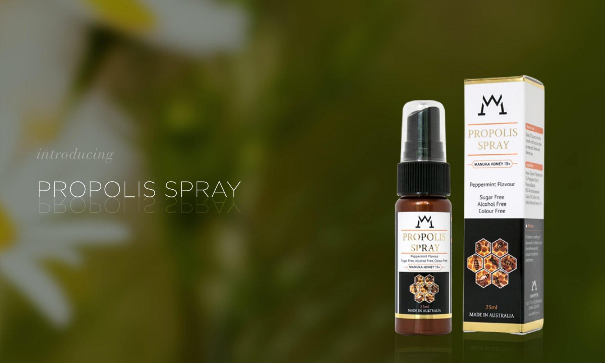 Propolis and Manuka honey 15 throat spray