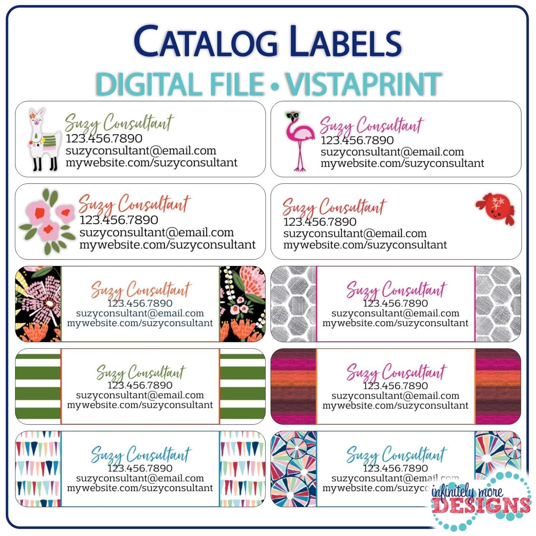 Catalog labels vistaprint return address labels digital download ss2019