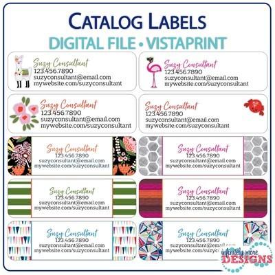 CATALOG Labels - VistaPrint: Return Address Labels (Digital