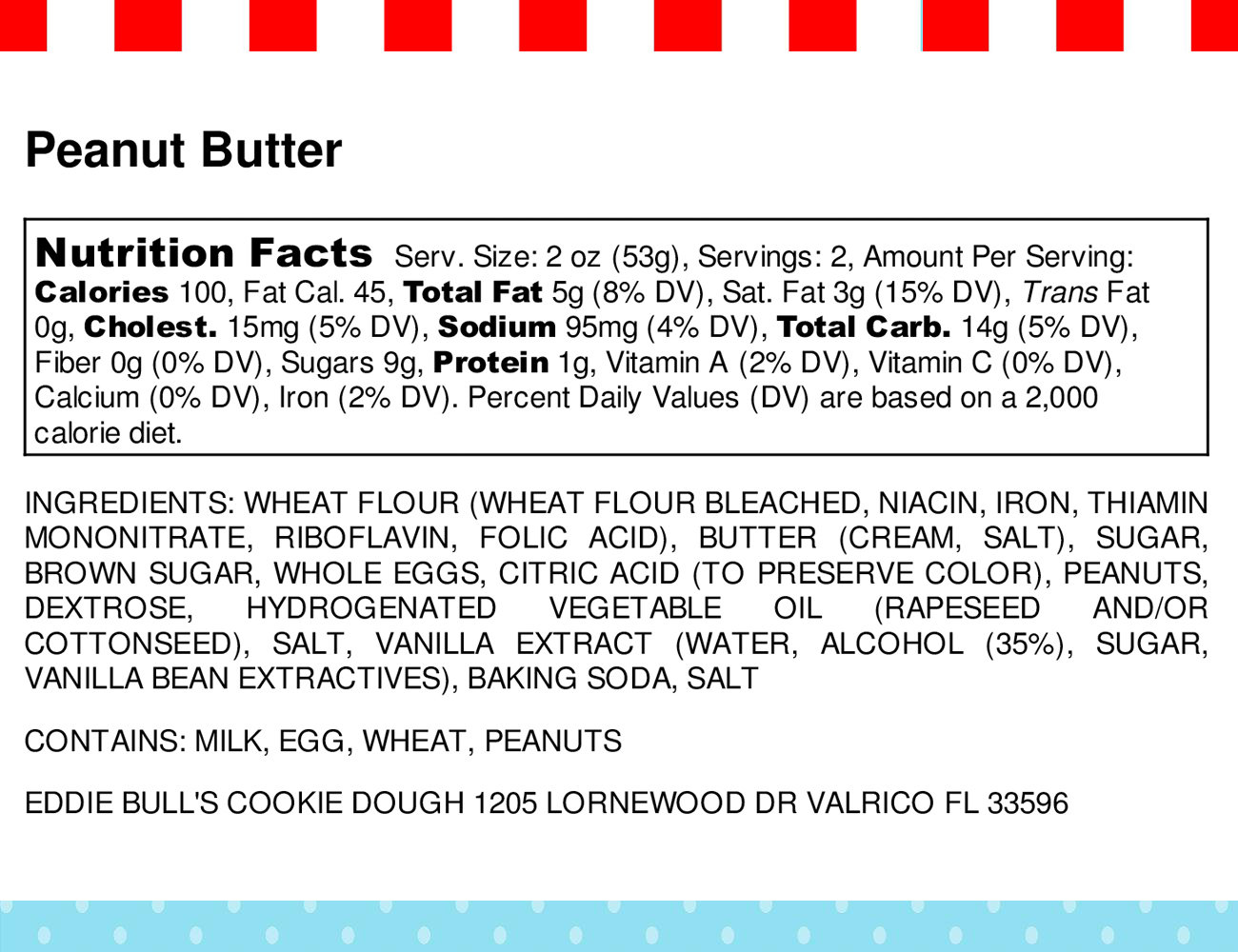 peanut butter nutritional info