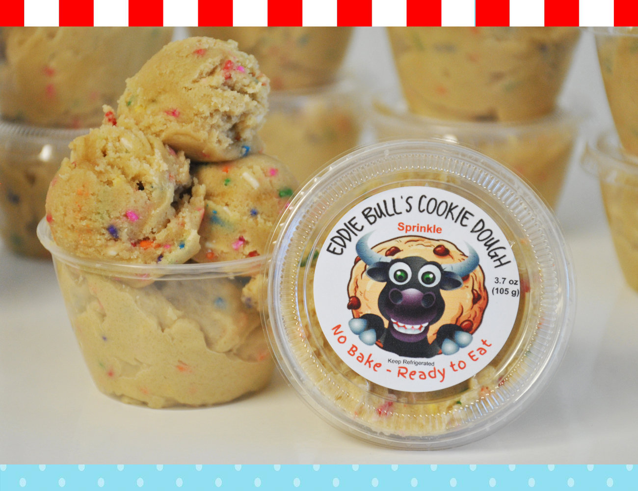 4 Pack Eddie Bulls Cookie Dough (4 - 8 ounce containers)