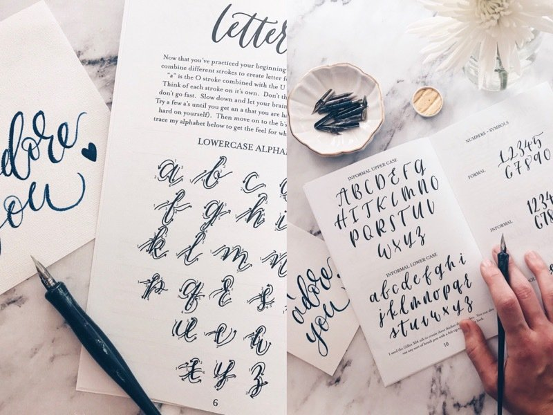 Beginner calligraphy class june th pm holly anna calligraphy