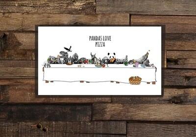 Pandas Love Pizza - Poster