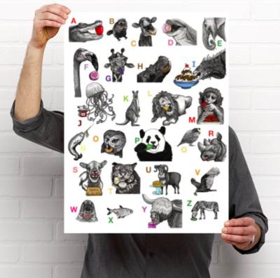 ABC Poster - Pandas Love Pickles